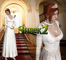 XNA - Shrek 2 - Princess Fiona In White DL by SovietMentality