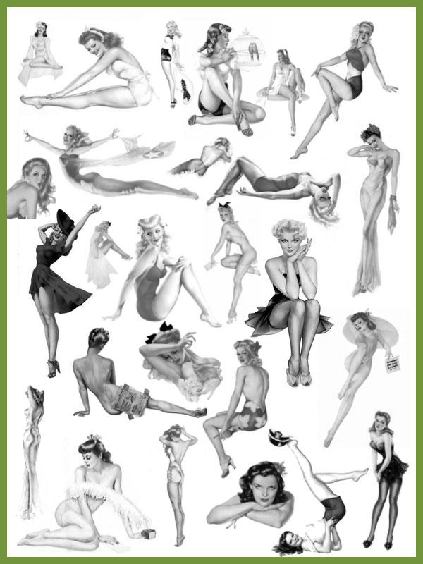 Alberto Vargas Pin Up Girls by bigoldtoe
