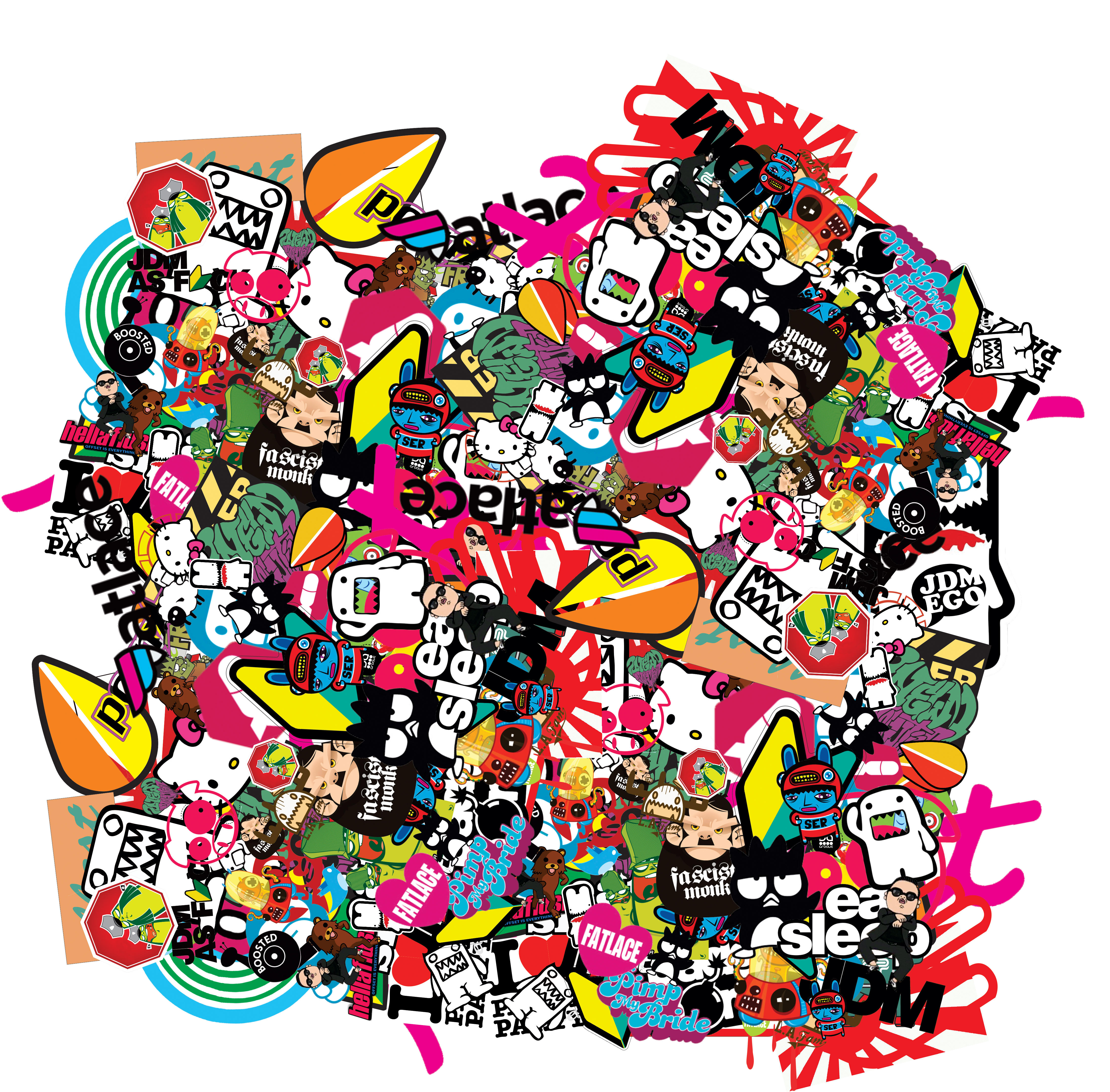 sticker bomb wallpaper cartoon - photo #12