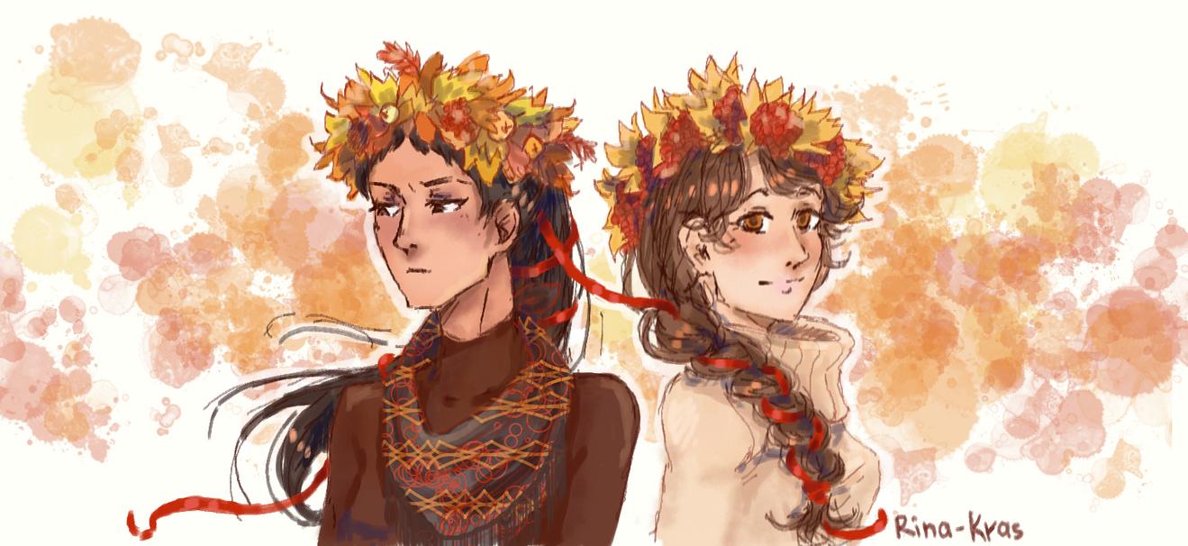 haikyuu: autumn fem!iwaoi by Rina-Kras