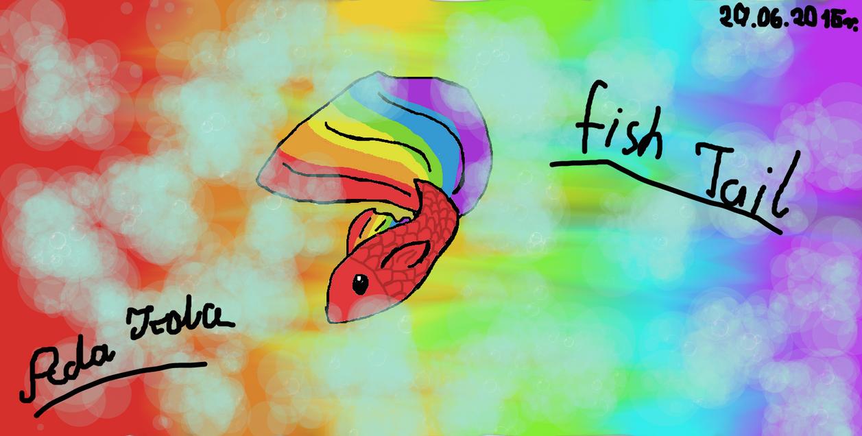 Rainbow Fish Tail by AdaKola