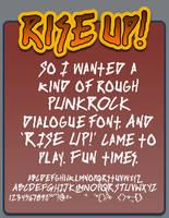 Rise Up font by shonenpunk