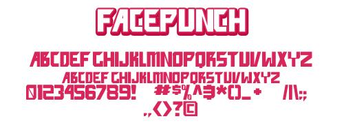 Facepunch font by shonenpunk