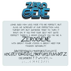 Font: Zerogene by shonenpunk