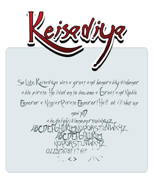 Keisadiya font by shonenpunk