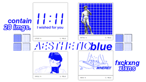 + AESTHETIC blue images pack. (Contain 28 imgs)