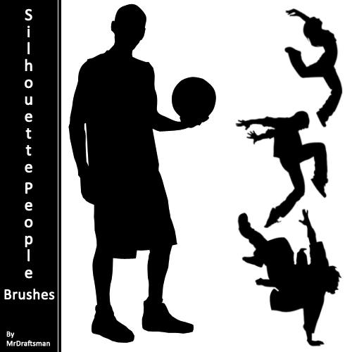Silhouette People Brushes by MrDraftsman