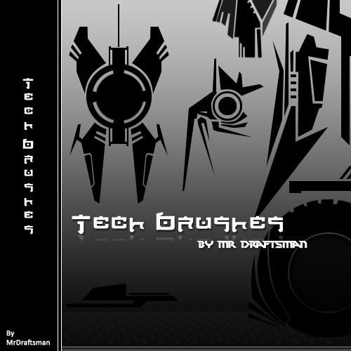 Tech Brushes by MrDraftsman