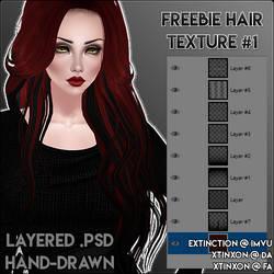 [IMVU] Freebie Hair Texture #1 .PSD by xtinxon