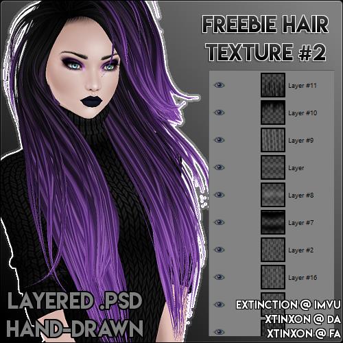 IMVU] Freebie Hair Texture #2  PSD by xtinxon on DeviantArt