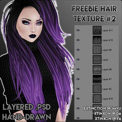 [IMVU] Freebie Hair Texture #2 .PSD by xtinxon