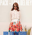 PACK Lana Del Rey - Born To Die Photoshoot