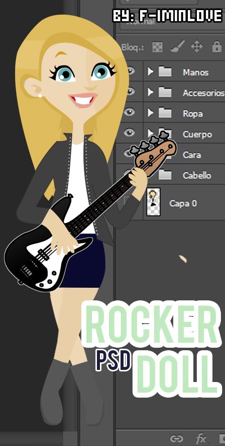 Rocker Doll .PSD by F-Iminlove
