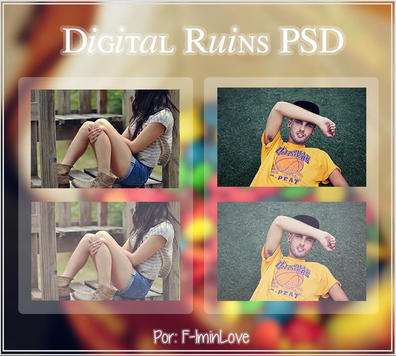 Digital Ruins. {PSD} by F-Iminlove