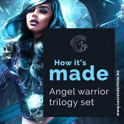 Process ebook cover angel warrior