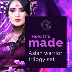 Process ebook cover asian warrior