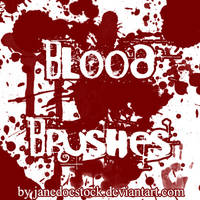 Blood Brushes by JaneDoeStock