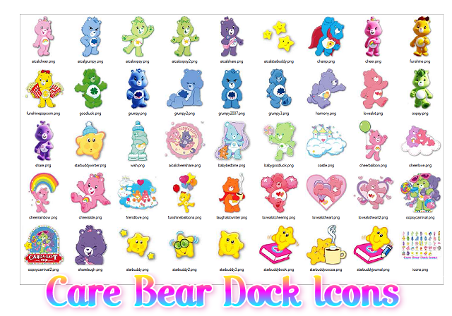 Care Bear Dock Icons by ShaiBrooklyn on DeviantArt - photo#15