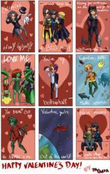 DC Valentine's Day Cards by DaPandaBanda