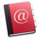 Address Book in Red by Kinshi