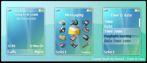 Crystal Touch Theme for K750 by osmoz-crystal