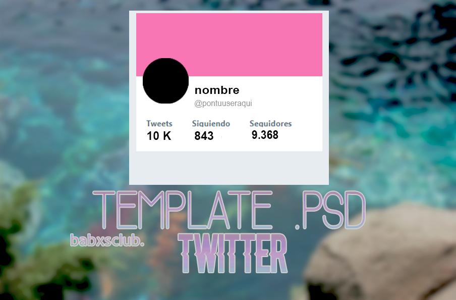 template twitter  psd by babxsclub on DeviantArt