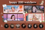 [SHARING TIME] HAPPY 200 WATCHERS PACK