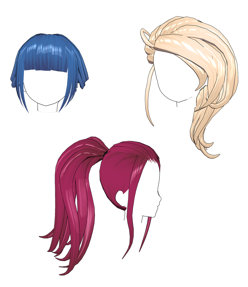 [MMD] Hair Pack 2 (DL)