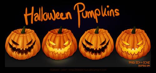 Halloween Pumpkins by Nelson-Tux
