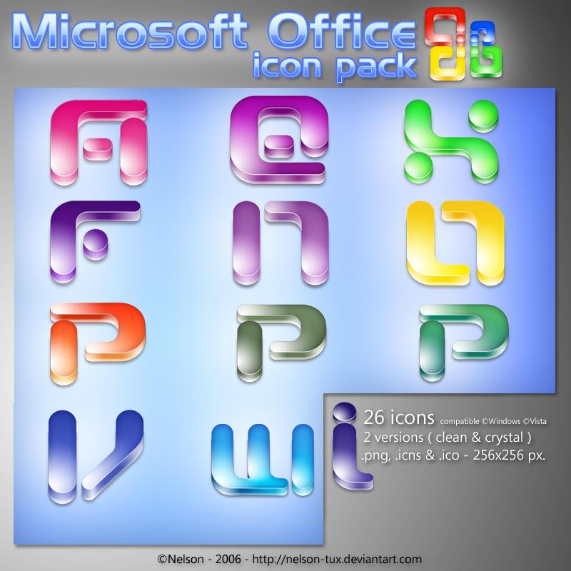 иконки microsoft office: