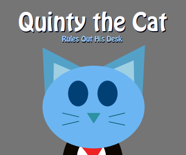 Quinty the Cat Rules Out His Desk by RyanSilberman