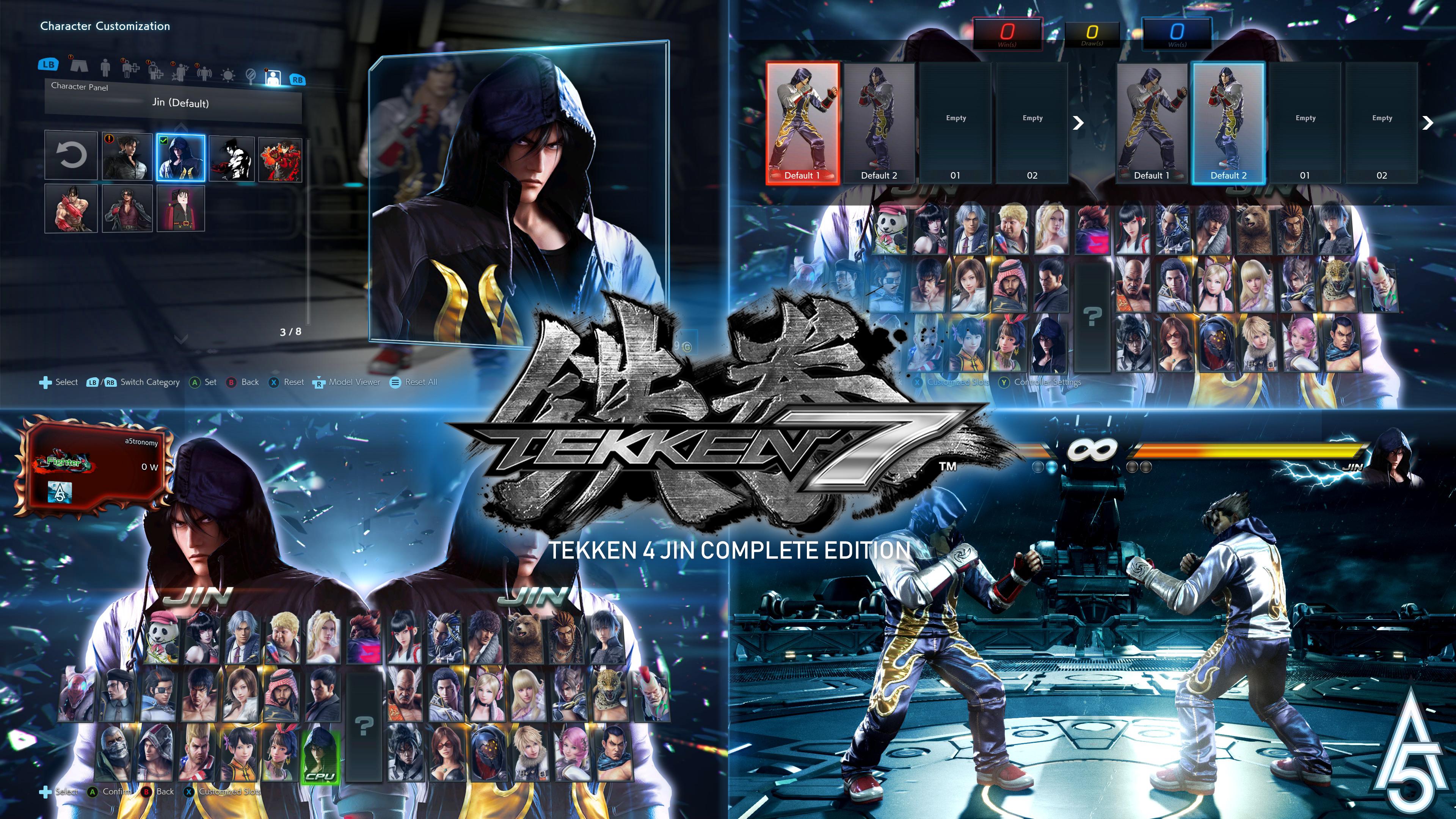 Tekken 7 Tekken 4 Jin Complete Edition Mod V2 By A5tronomy On