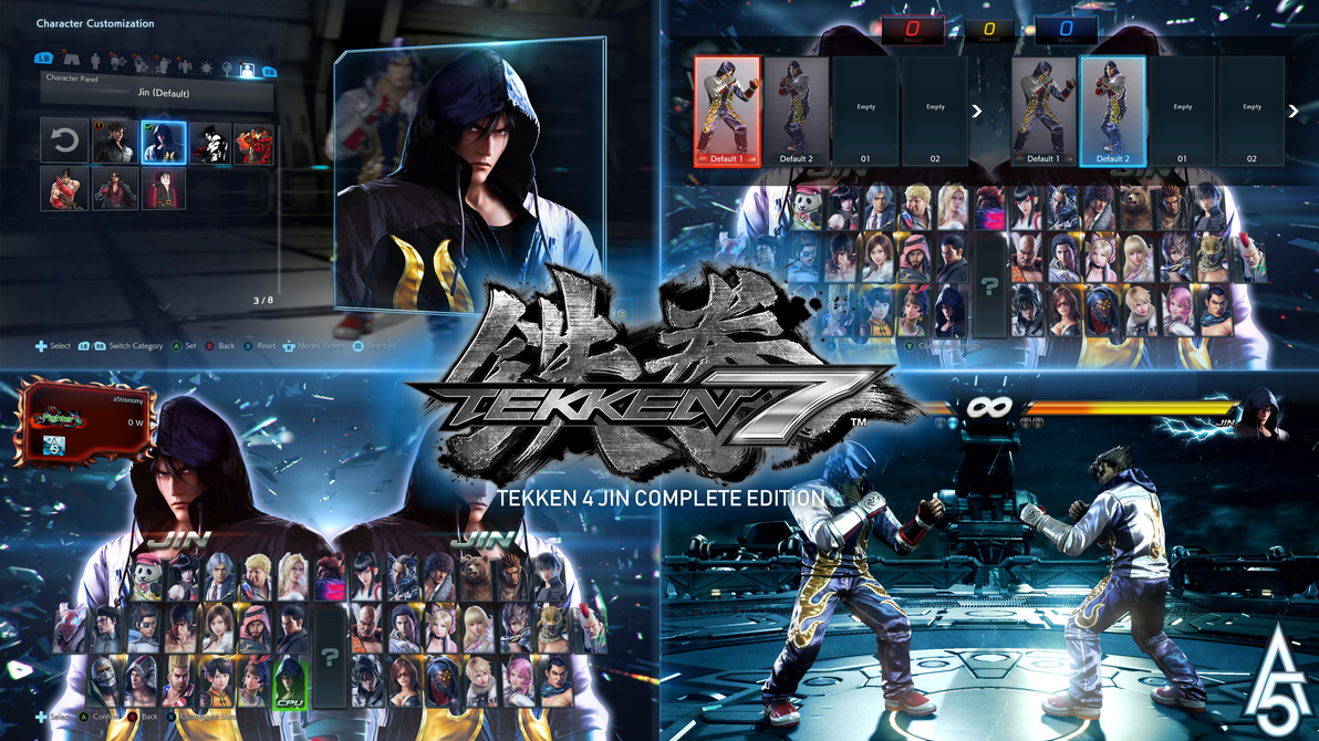 tekken 7 tekken 4 jin complete edition mod v2 by a5tronomy on