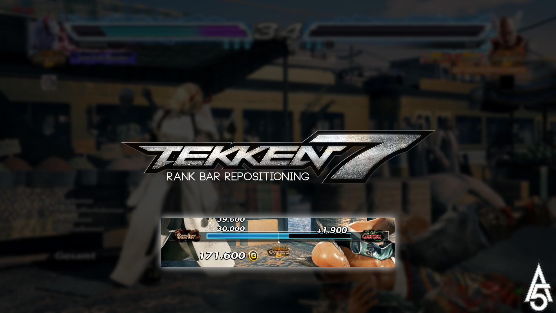 Tekken 7 Rank Bar Repositioning Mod By A5tronomy On Deviantart