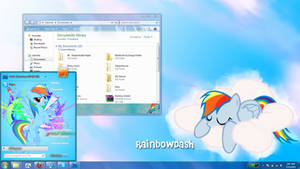 Rainbow Dash Windows 7 theme