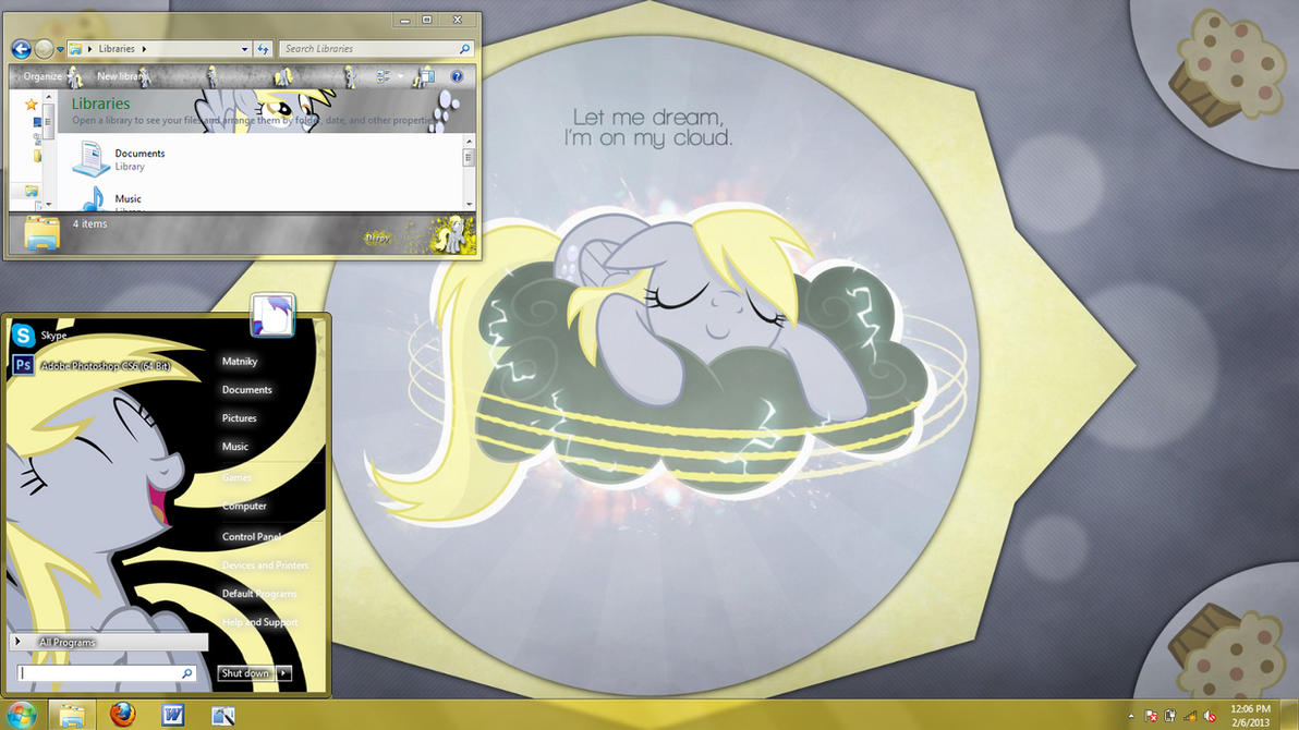 Derpy Hooves Windows 7 Theme By Matniky