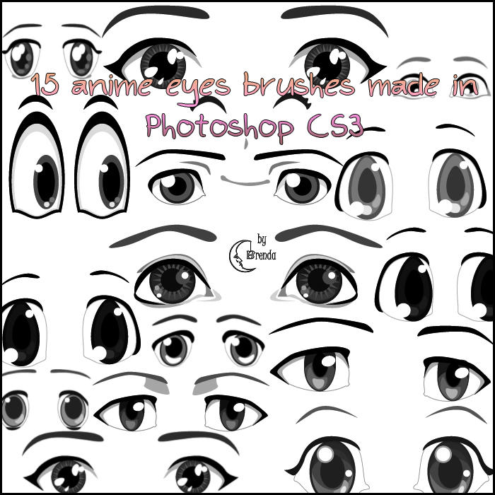 Anime Eyes Brushes PS by Coby17