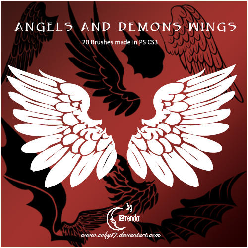 Angels And Demons Wings Brushe by Coby17