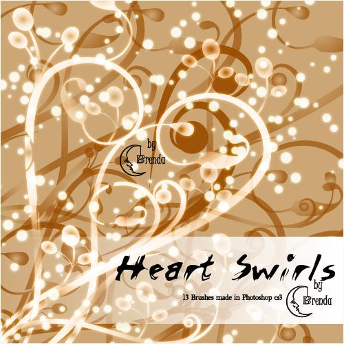 Heart Swirls Brushes