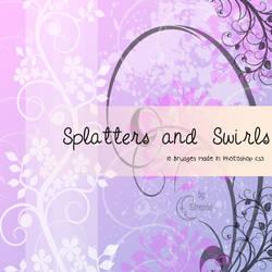Splatters and Swirls Brushes