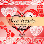 Deco Hearts Brushes