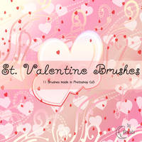 St. Valentine brushes by Coby17