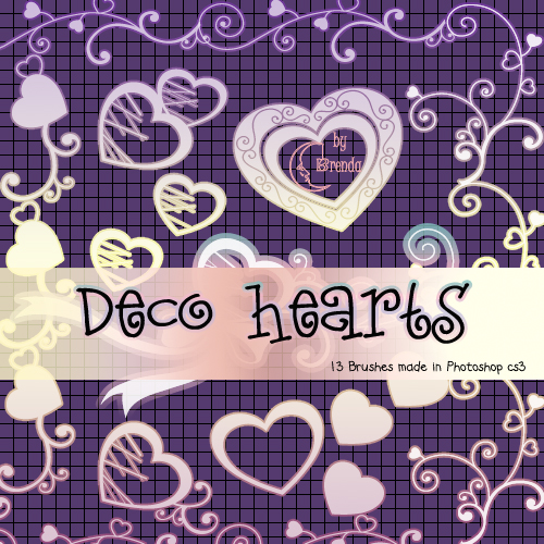 Decorative Hearts Photoshop Brushes