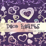 Decorative Hearts Photoshop Brushes