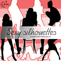 Sexy silhouettes Brushes by Coby17