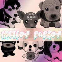 Littles Pupies Brushes by Coby17