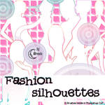 Fashion silhouettes Brushes