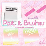 Post-it Brushes by Brenda