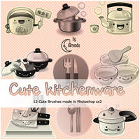 Cute  kitchenware Brushes by Coby17
