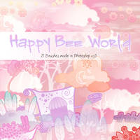 Happy Bee World Brushes by Coby17